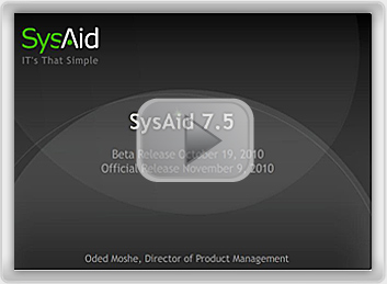 SysAid 7.5 Beta Screenshot
