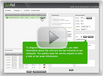 SysAid chat flash screenshot
