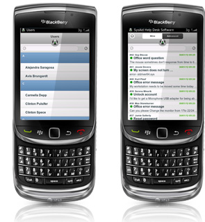 SysAid on BlackBerry