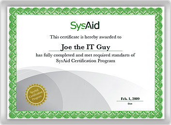 certification Joe the IT guy