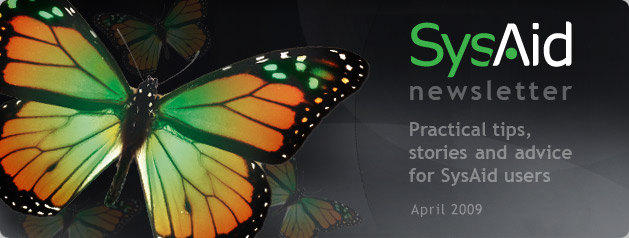 SysAid April Newsletter