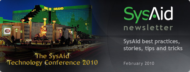 SysAid February Newsletter Header