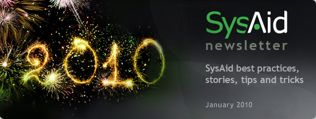 SysAid January Newsletter Header