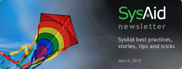 SysAid March Newsletter Header