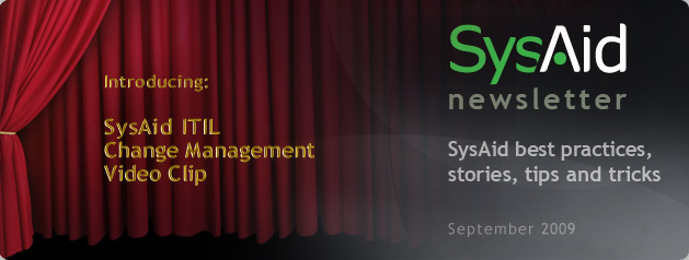 SysAid September Newsletter